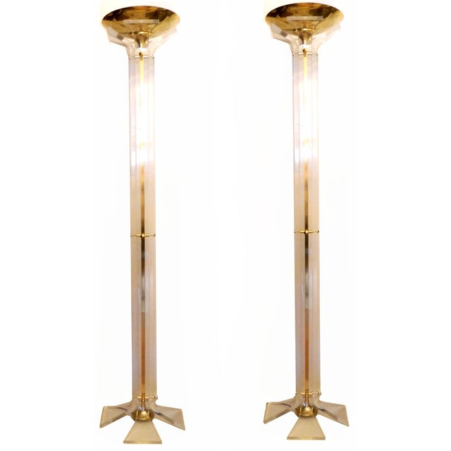 Italian Floor Lamps - A Pair - Image 6 of 9