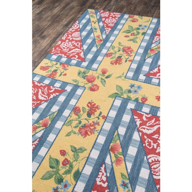 """Textile Madcap Cottage Summer Garden Think of England Multi Area Rug 3'6"""" X 5'6"""" For Sale - Image 7 of 8"""