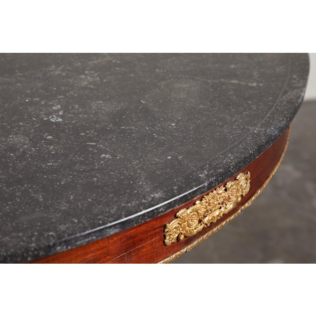 Early 19th Century Early 19th Century French Empire Mahogany Pedestal Table with Ormolu For Sale - Image 5 of 8