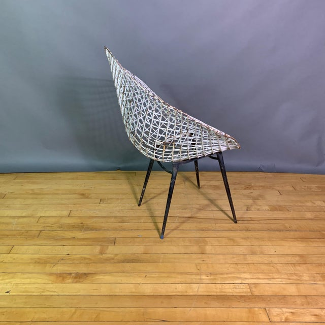 Iron Set of 1970s Iron Diamond Outdoor Chairs, Manner of Bertoia For Sale - Image 7 of 11