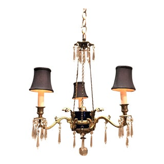 Three Light Classical Style Chandelier, Circa:1890, Sweden For Sale