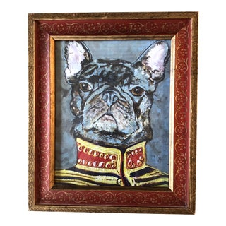 """Contemporary French Bulldog Print by Judy Henn """"Military Frenchie """" For Sale"""