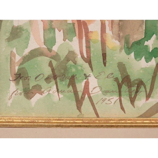 Mid-Century Modern Adrian Daintrey Landscape Watercolor Painting For Sale - Image 3 of 3
