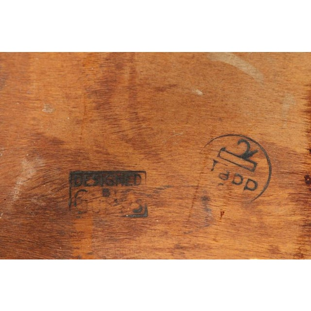 Johan Tapp Leather Top Side Table For Sale - Image 7 of 7