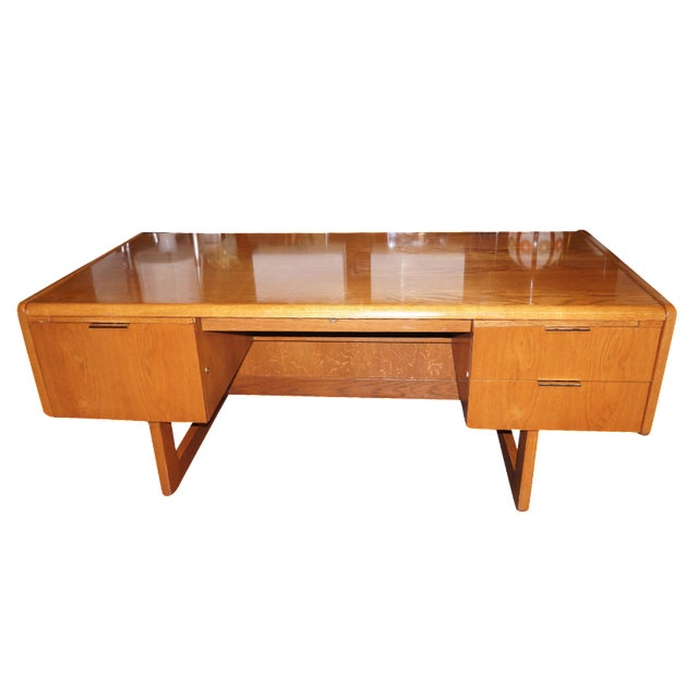 Mid-Century Modern Executive Desk and Credenza - Image 1 of 7