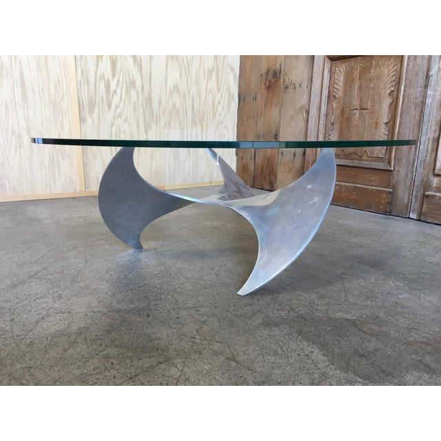 Knut Hesterberg Aluminum and Glass Propeller Table by Knut Hesterberg For Sale - Image 4 of 9
