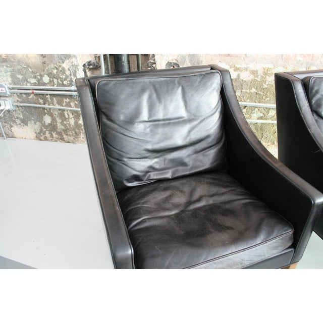 Matched Pair of Børge Mogensen Model #2207 Leather Lounge Chairs For Sale - Image 12 of 13