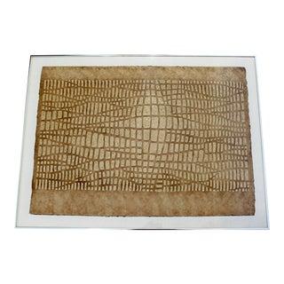 Mid-Century Modern Framed Textured Paul Maxwell Lithograph