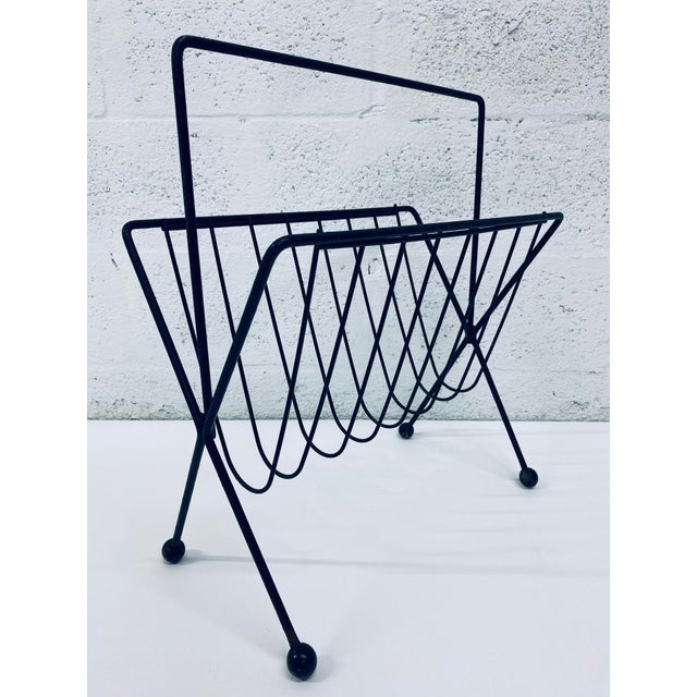 1950s Vintage Tony Paul Steel Wire Magazine Rack For Sale - Image 12 of 12