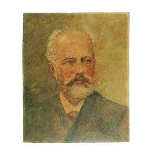 Oil Portrait of Bearded Gentleman, 1940s