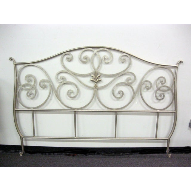 Metal Scroll Design King Size Bed - Image 2 of 5