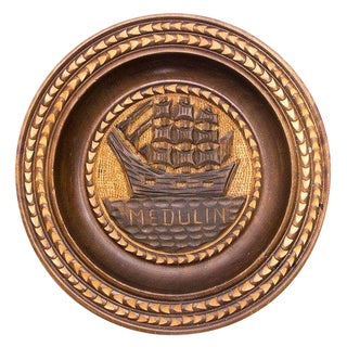 "Hand-Carved Croatian Wooden Platter ""Medulin"""