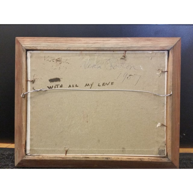 Viola Roston Signed Oil Painting, 1957 For Sale - Image 5 of 6