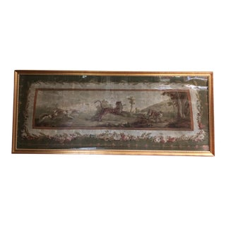 Antique Framed Tapestry For Sale