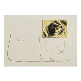 1983 Jorge Dumas Michele Female Nude Lithograph For Sale
