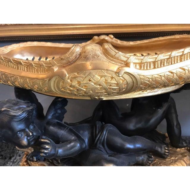Classical Gilt Bronze Figural Putti Coupe Centerpiece - Image 8 of 8