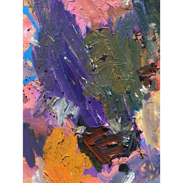 Abstract 'Debussy Magnolia' Abstract Oil Painting by Sean Kratzert For Sale - Image 3 of 3
