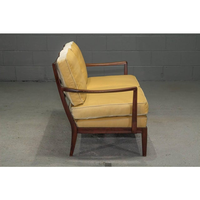 Mid-Century Modern Danish Modern Loveseat Settee With Down Cushions For Sale - Image 3 of 11