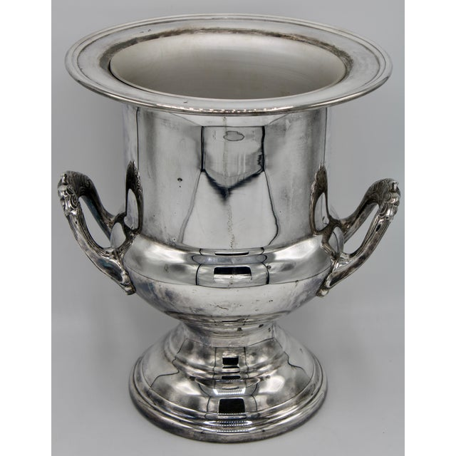 A stunning Fvintage champagne bucket by Gorham Silver Company, circa 1960. Silver plated with an interior liner. A lovely...