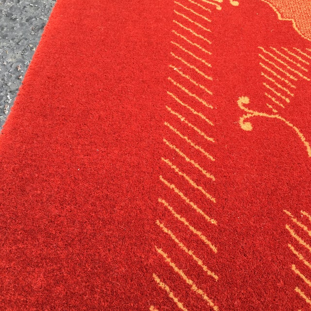 Prado Epos Red Wool Area Rug - 6′6″ × 9′10″ For Sale In San Francisco - Image 6 of 8