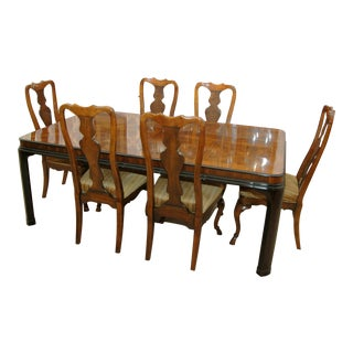 Drexel Heritage Walnut & Cherry Chairs Only (8)