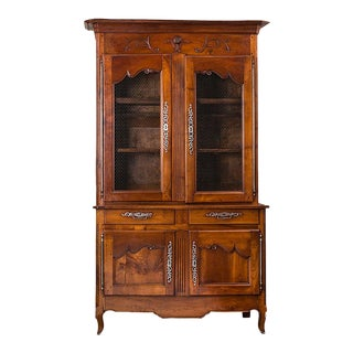 China Cabinet, 19th Century French Cherrywood For Sale