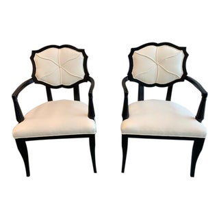 Modern Celerie Kemble Hexafleur for Henredon Chairs - a Pair For Sale