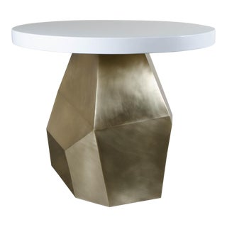 Brass Faceted Entry Table Base