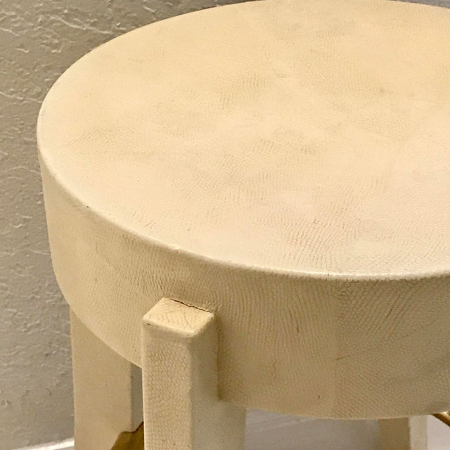 Karl Springer Albino Python Side Table - Image 9 of 12