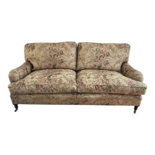 George Smith Signature Standard English Roll Arm Sofa For Sale