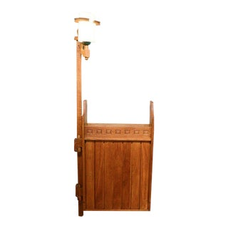 French Oak Hanging Bar Cabinet by Guillerme Et Chambon For Sale