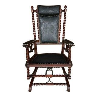 19th Century Gothic Hunzinger Platform Rocking Chair