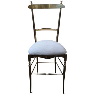 1960's Vintage DI Sanguineti Italian Brass Chiavari Campanino Chair For Sale