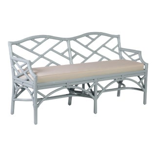 Chippendale Bench - Blue For Sale