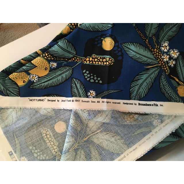 "Contemporary Brunschwig & Fils Josef Frank ""Notturno"" Handprinted Fabric - 8 Yards For Sale - Image 3 of 3"