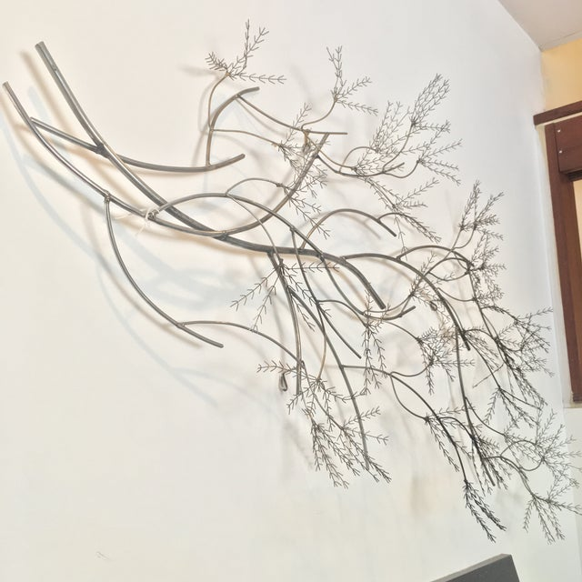 Gray Curtis Jere Wheat Willow Wall Art Sculpture For Sale - Image 8 of 8