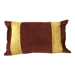 1960s Fortuny Rectangular Pillow For Sale