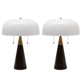 Custom 'Alvaro' Table Lamps II - a Pair For Sale
