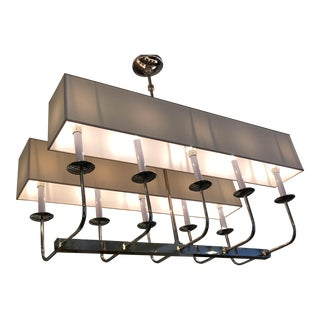 New! E. F. Chapman Linear Branched Polished Nickel Pendant