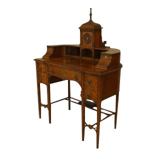 "American Victorian Gothic Revival oak ""Carlton House"" desk For Sale"