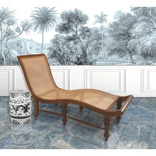 1920s Antique Anglo-Indian Cane and Teak Chaise Preview