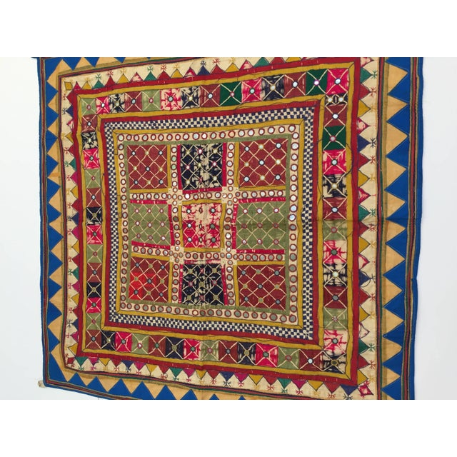 Late 19th Century Embroidered Ceremonial Chakla Cloth Textile For Sale - Image 10 of 11