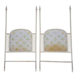 Vintage Bentwood Rattan Twin Headboards A Pair .