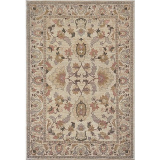 "Mansour Genuine Handwoven Agra Rug - 6'10"" X 8'10"" For Sale"