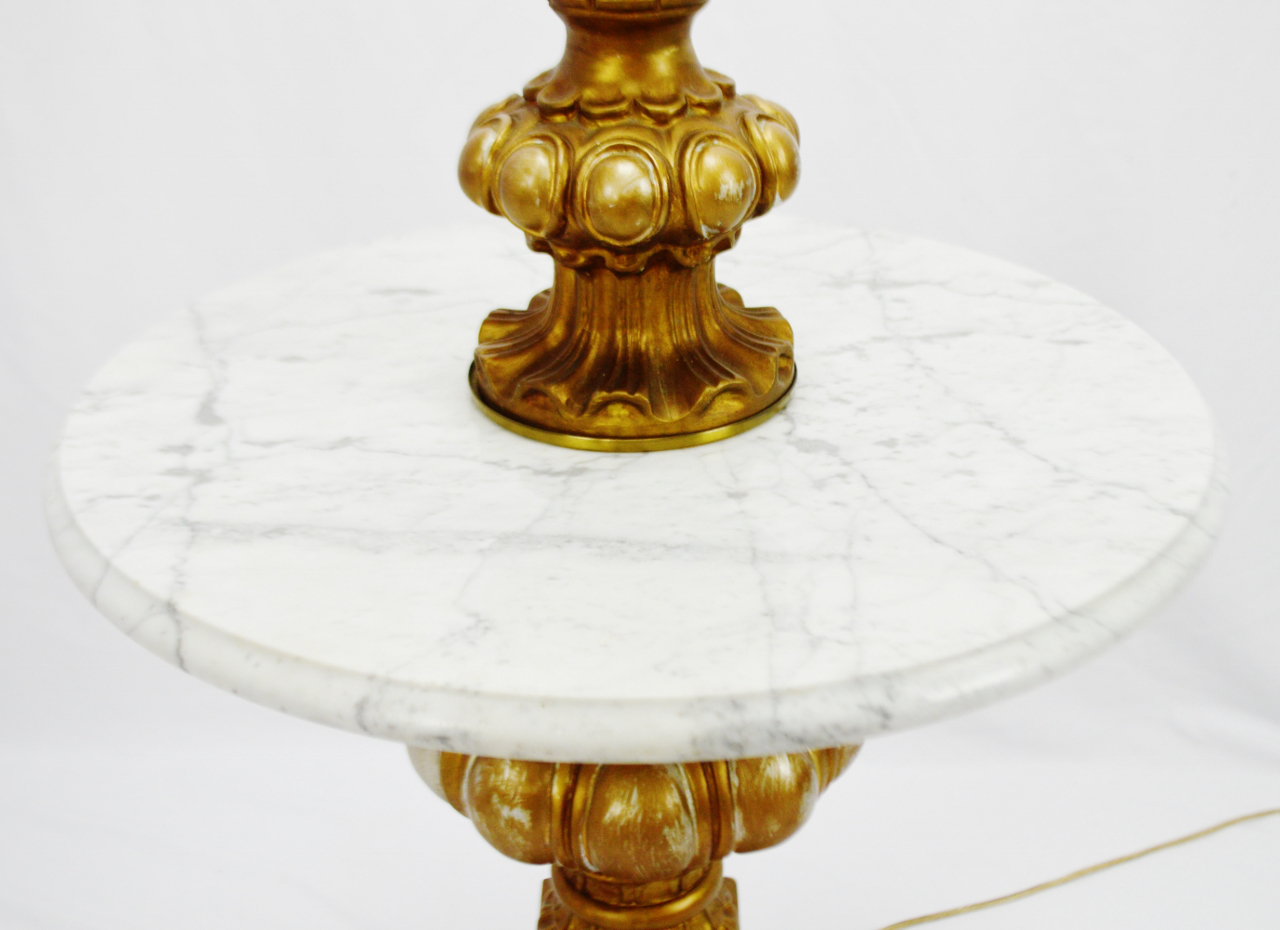 Vintage Hollywood Regency Marble Table Top Floor Lamp For Sale In  Philadelphia   Image 6 Of