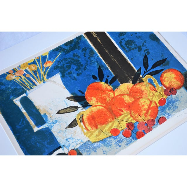 Hand Lithographed Still Life Print by French Artist Yves Ganne For Sale In Richmond - Image 6 of 10