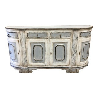 18th C Italian Painted Tuscan Credenza Sideboard For Sale