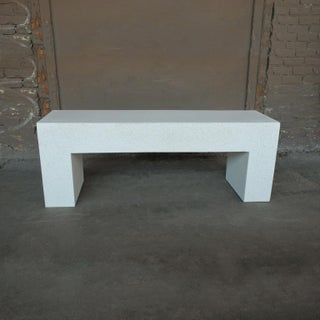 Cast Resin 'Aspen' Bench, White Stone Finish by Zachary A. Design Preview