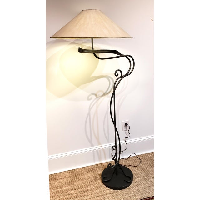 Mid-Century Modern 1960s Hand Wrought Iron Floor Lamp by Chapman Lighting For Sale - Image 3 of 6