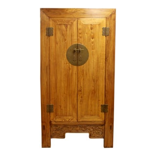 Asian Cabinet Armoire Wardrobe Dresser Shantong Style 1990s Wood For Sale